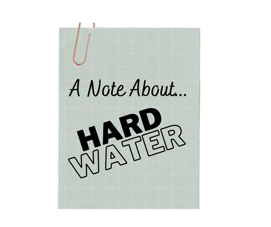 hard water dishwasher