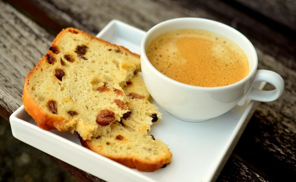 breads and coffee
